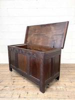 18th Century Antique Oak Panelled Coffer (11 of 12)