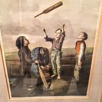 The Toss For Innings - Framed Colour Print of Painting by Robert James (2 of 6)
