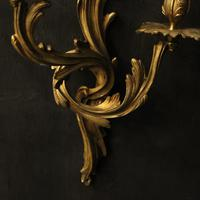 French Pair of Bronze Antique Wall Sconces (9 of 10)