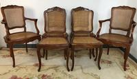 Vintage French Set of 6 Cherrywood Bergère Cane Dining Chairs with Carvers (12 of 14)