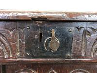 18th Century Oak Coffer with Inlay (7 of 13)