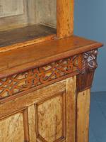 Antique Victorian Golden Oak Open Bookcase (12 of 20)