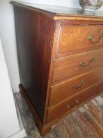 English 18th Century Oak Chest of Drawers (3 of 9)