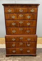 George 2nd Walnut Chest on Chest