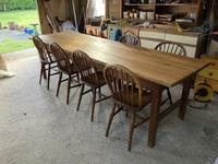 Set of Four Early 20thc Ash & Beach Kitchen Chairs (3 of 6)