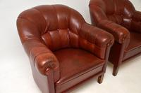 Pair of Antique Swedish  Leather Club Armchairs (4 of 11)