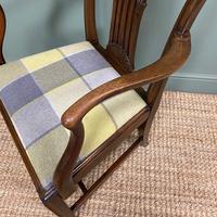 Set of 8 Hepplewhite Design Antique Mahogany Dining Chairs (7 of 10)