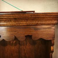 Oak open rack dresser with cupboard and draw base (11 of 14)