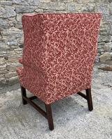 Victorian Mahogany Framed Wing Armchair (7 of 15)