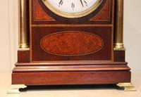 Mahogany and Inlay Bracket Clock (8 of 13)