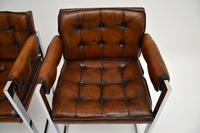 Pair of Vintage Leather & Chrome Armchairs (6 of 15)