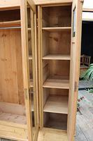 Fabulous Old Pine Triple 'Knock Down' Arts & Crafts Wardrobe (11 of 11)