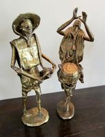 Collection of Four Large  African Bronze Musicians (5 of 5)