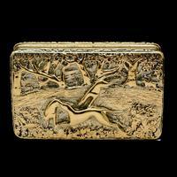 Georgian Solid Silver Gilt Snuff Box With Spectacular Fox Hunting Scene - Edward Smith 1832 (16 of 22)
