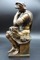 Finely Cast Early 20th Century Bronze Figure of a Centurion by R Bellair & Co (5 of 5)