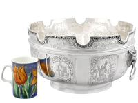 Sterling Silver Monteith Bowl - Antique Edwardian 1905 (4 of 18)