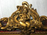 Large French Empire Boulle Style Gilt Cherub Pier Bevelled Mirror (12 of 13)