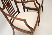 Pair of Antique Edwardian Inlaid  Mahogany Armchairs (9 of 12)