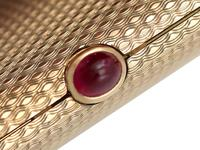 9ct Yellow Gold & 0.86ct Ruby Compact by Boucheron - Vintage 1964 (9 of 18)