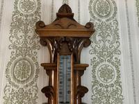 Heavily Carved Oak Mid Victorian Barometer / Thermometer (3 of 4)