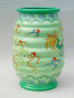 Charlotte Rhead Tube Lined Vase Manchu Dragon Design (3 of 9)