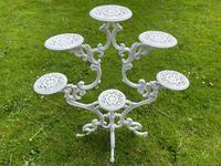 Victorian 19th Century Garden Cast Iron Painted White 6 Branch Plant Stand (10 of 47)