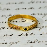 The Ancient Medieval Green & Gold Bishop's Stirrup Ring (2 of 5)