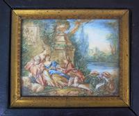 Beautiful Miniature Painting after Boucher by the Lake (3 of 6)