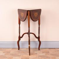 Edwardian Inlaid Rosewood Drop Leaf Occasional Table (2 of 23)