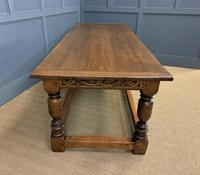 Large Oak Jacobean Revival Refectory Table (8 of 12)