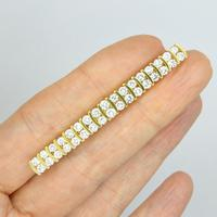 Stunning Vintage Diamond Double Row Bar Brooch 2.5 Carat ~ With Independent Appraisal / Valuation (2 of 11)