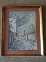 Fernand Laval Rue de Mont Cenis Montmartre Paris 1912 Watercolor Charcoal (2 of 6)
