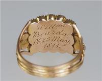 Georgian 15ct Gold Pearl Antique Memorial English Ring c.1800 (2 of 20)