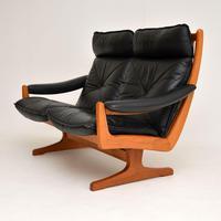 1970's Vintage Teak & Leather Sofa by Soda Galvano (4 of 10)