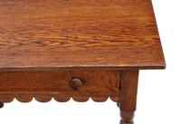 Georgian and Later Oak Writing Side Occasional Table with Drawer c.1800 (4 of 9)