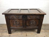 Small 18th Century Carved Oak Coffer (2 of 13)