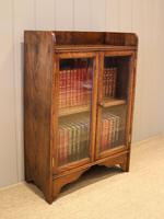 Small Proportioned Oak Glazed Bookcase (5 of 11)