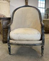 French Louis XVI Style High Back Chair