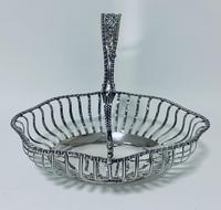 Antique Georgian 18th Century Solid Silver Swing Handle Bread Basket 1774 (2 of 19)