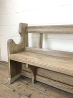 Antique Pine Chapel Pew Bench (5 of 9)