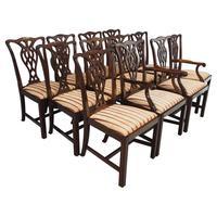 Set of 12 Georgian Style Mahogany Dining Chairs
