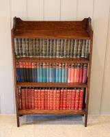Oak Open Bookcase c 1920