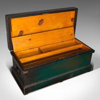 Antique Shipwright's Chest, English, Craftsman's Tool Trunk, Victorian c.1900 (8 of 12)