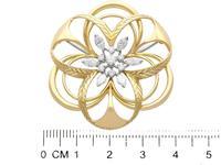 2.15ct Diamond & 18ct Yellow Gold Brooch - Vintage c.1960 (7 of 9)