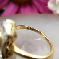 Art Deco 18ct Gold, Platinum Ruby & Diamond Shield Ring (6 of 8)