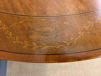 "Inlaid Mahogany ""Zodiac"" Drum Table by Jas Shoolbred (7 of 20)"