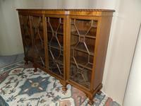 Mahogany Breakfront Bookcase (2 of 6)