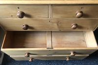 Stripped Pine Chest of Five Drawers (4 of 9)