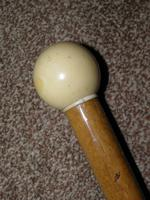 Antique Fawn Coloured Canopy Umbrella With Billiard Inspired Ball Handle (13 of 14)