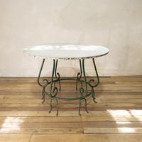 """A 20th Century French Iron and Marble """"orangerie"""" Centre - Garden Table (2 of 13)"""
